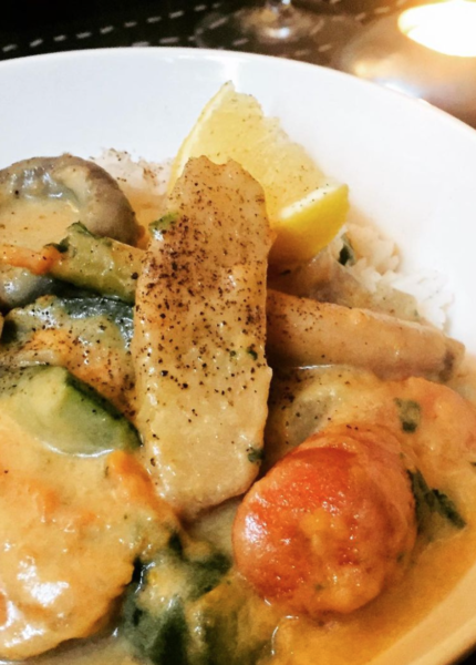 The Food Cocoon - Vegetable Thai green curry