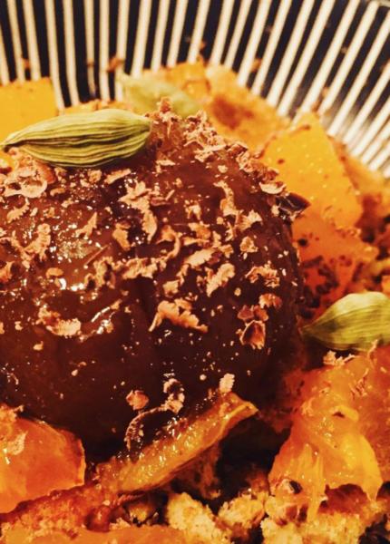 The Food Cocoon - Marron glacé con kaki persimmon